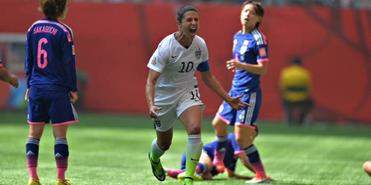 Carli Lloyd after scoring against Japan