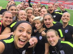 Team selfie after the final  practice
