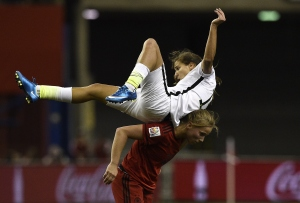 Tobin Heath goes for a ride