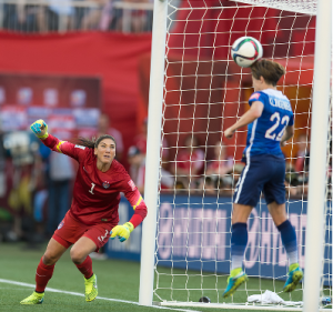Megan Klingenberg's head save against Sweden, that saved the tournament
